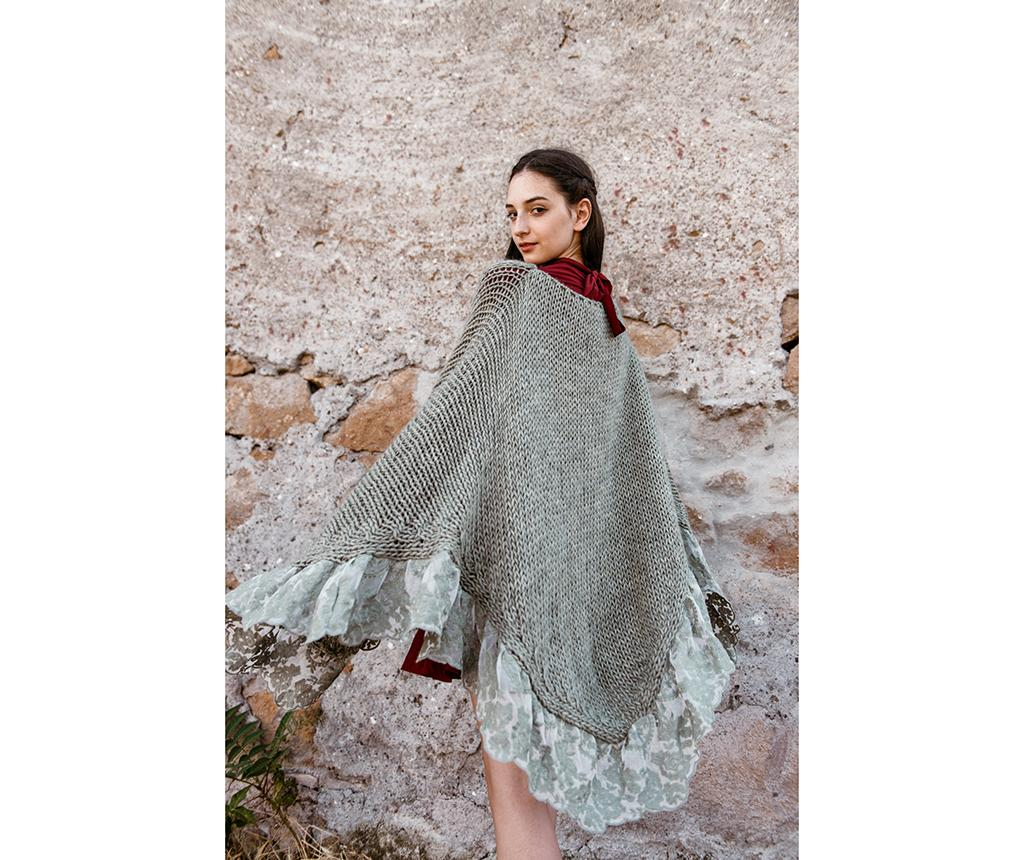 Poncho dama Anello Alaska Powder Green imagine