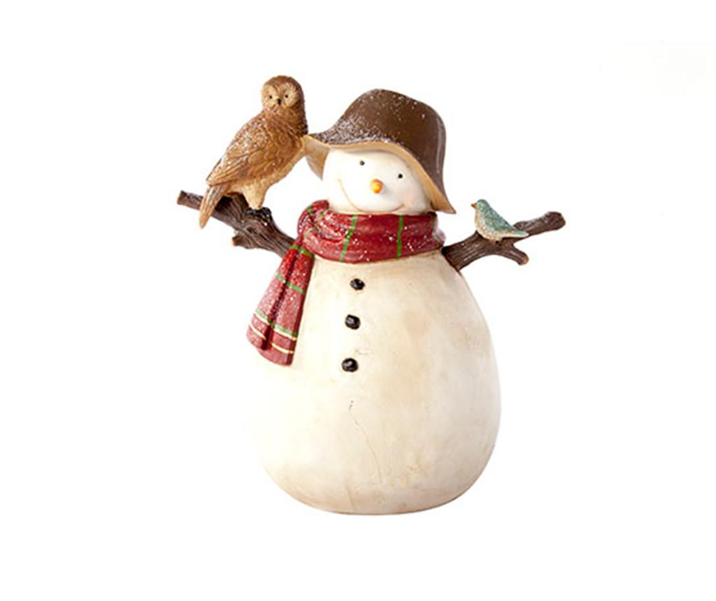 Decoratiune Snowman With Owl imagine