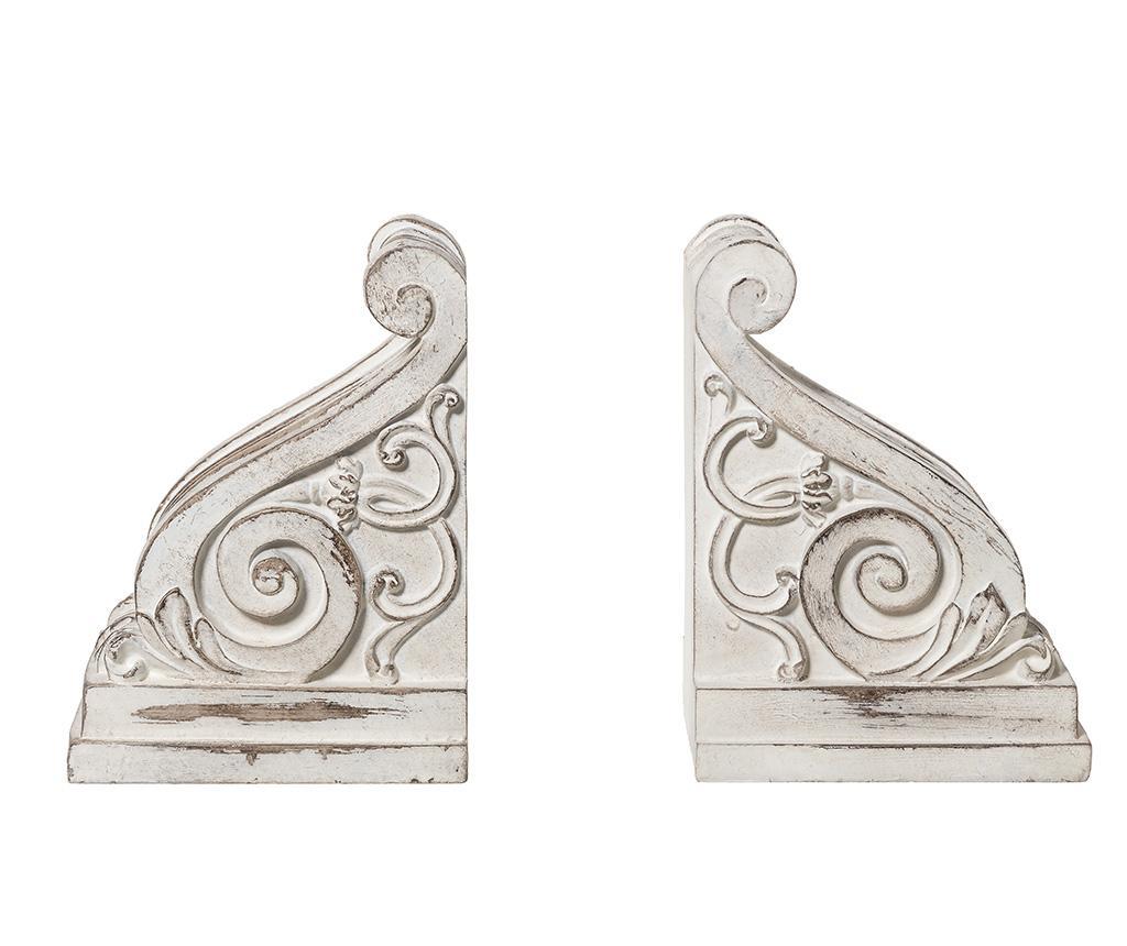 Set 2 suporturi pentru carti Reggilibri - L'arte di Nacchi, Alb de la L'arte di Nacchi