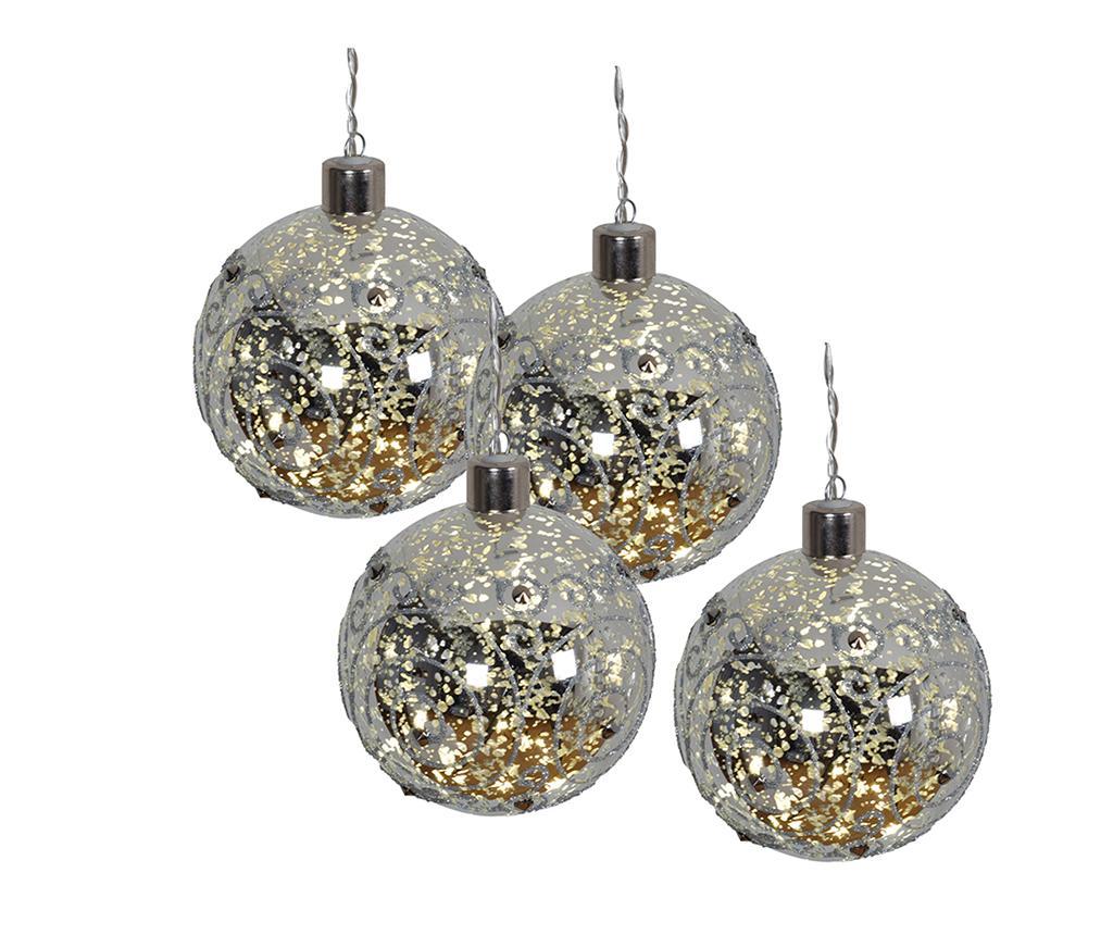 Set 4 globuri decorative luminoase Mistic Balls