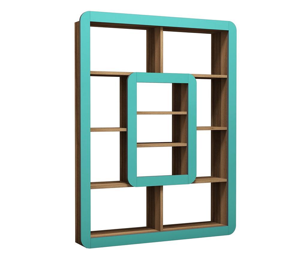 Corp biblioteca Orkide Walnut Turquoise - Hommy Craft, Verde imagine