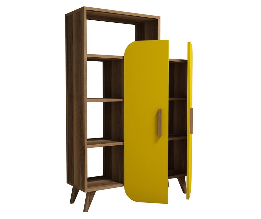 Corp biblioteca Form Walnut Yellow