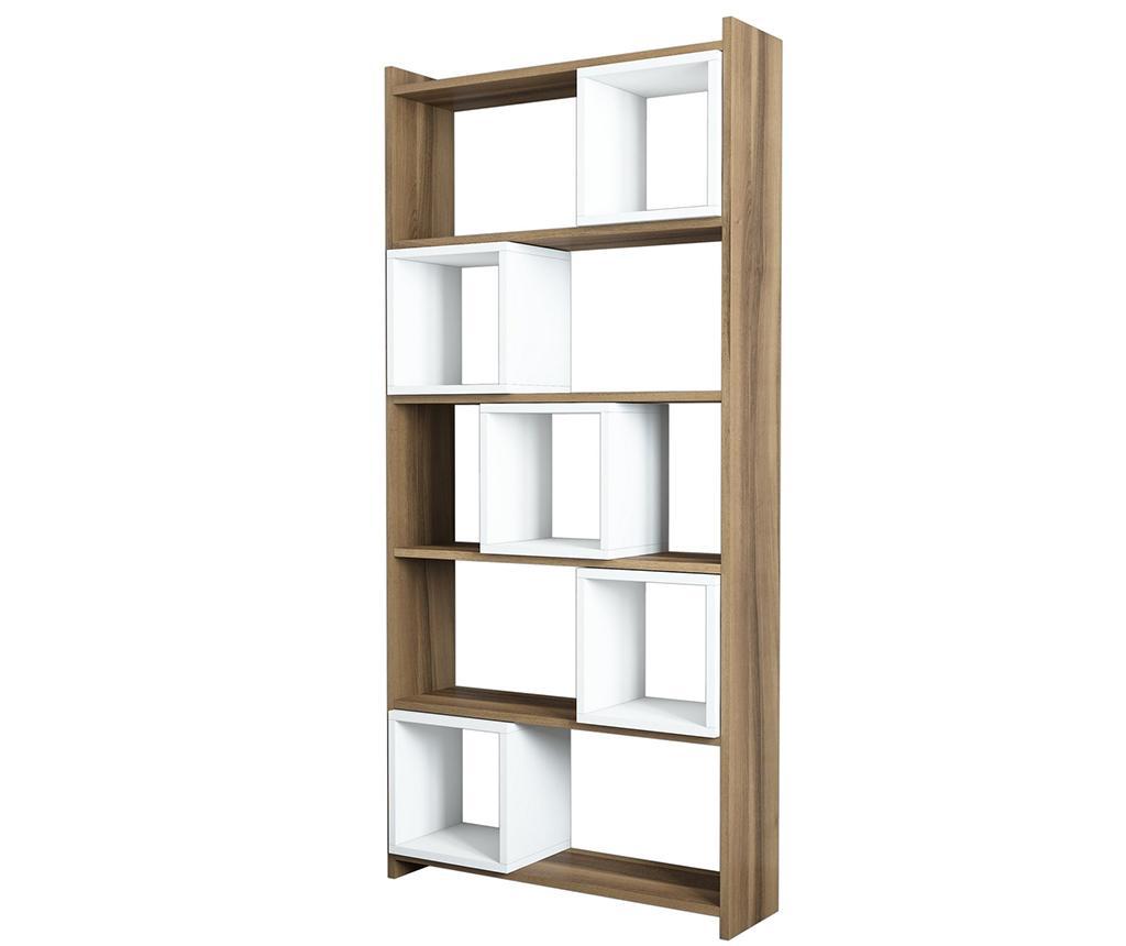 Corp biblioteca Box Walnut White - Hommy Craft, Crem imagine