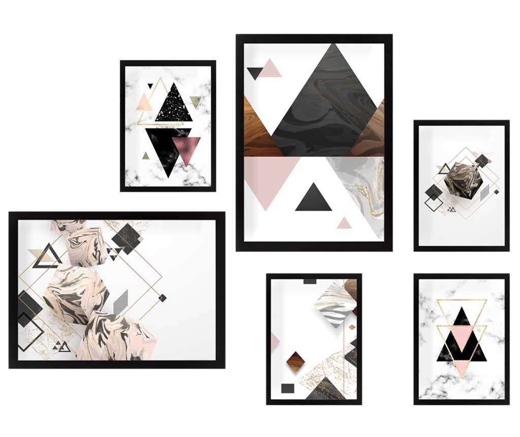 Set 6 tablouri Triangles vivre.ro