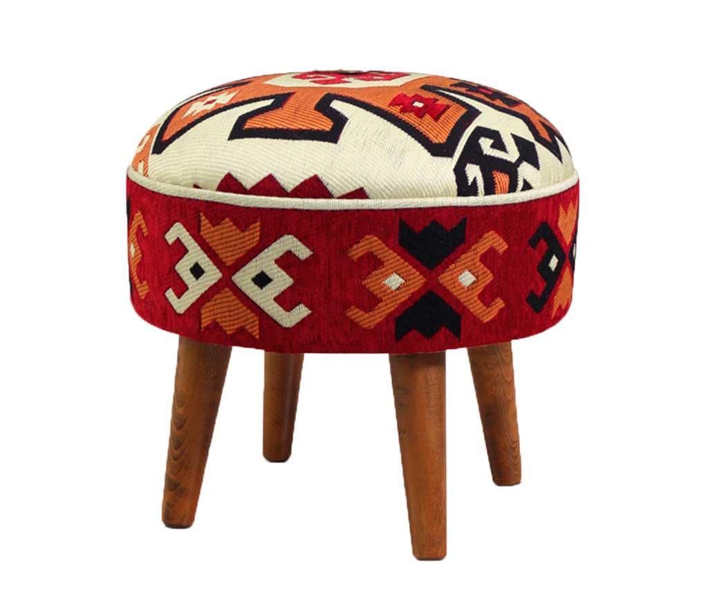 Taburet pentru picioare Crete - Lorence Home, Rosu imagine