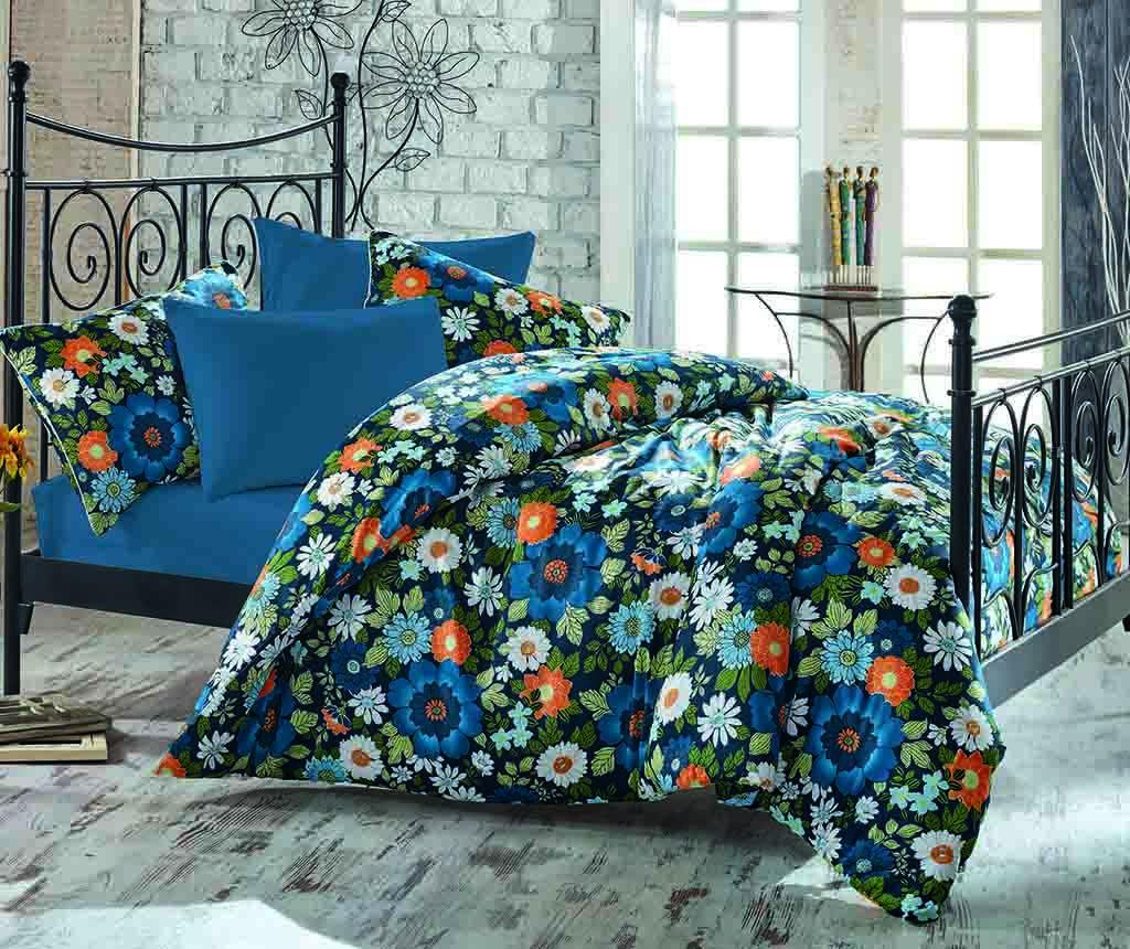 Lenjerie de pat King Satin Botanical imagine