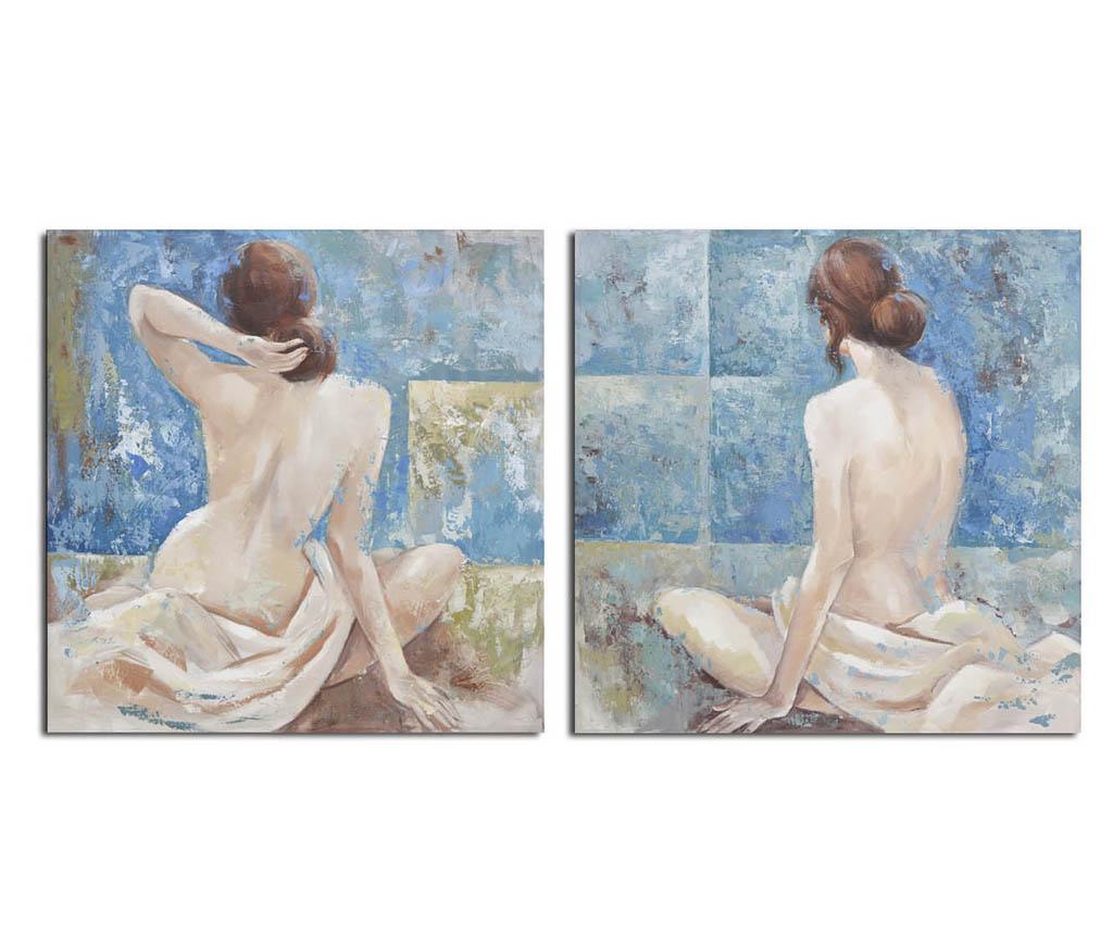 Set 2 tablouri Venus 100x100 cm