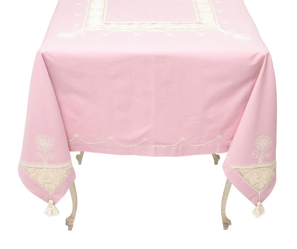 Fata de masa Moselle Pink 140x180 cm - Valentini Bianco, Roz imagine
