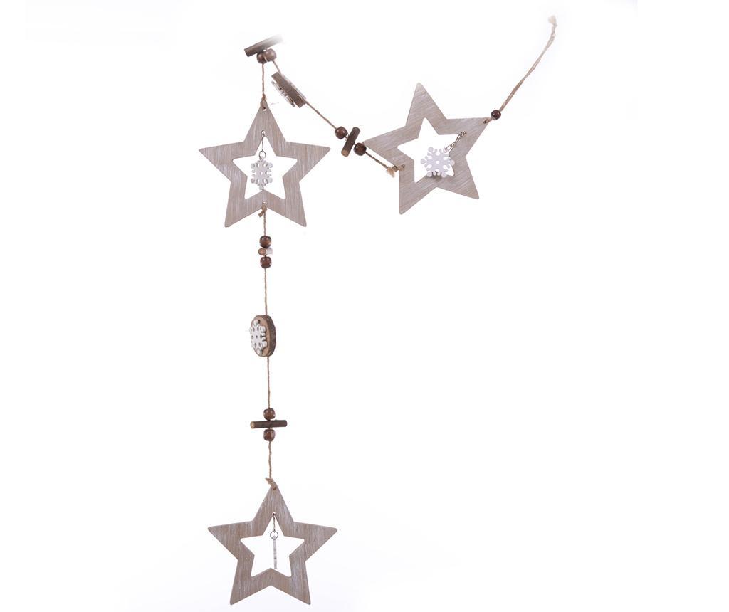Ghirlanda Wood White Stars