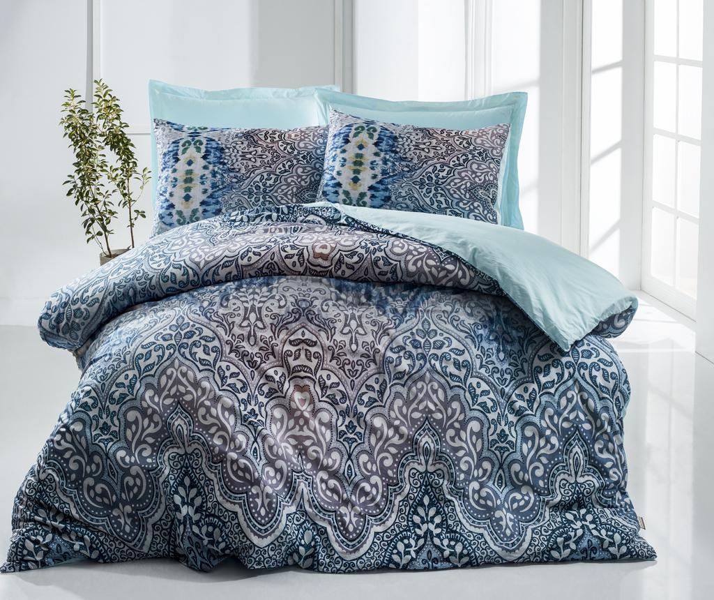 Set de pat Double Ranforce Gora Blue - The Club Cotton, Albastru imagine