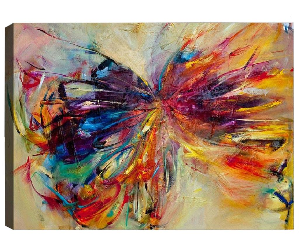 Tablou Stretched Butterfly 40x60 cm - Tablo Center, Multicolor vivre.ro