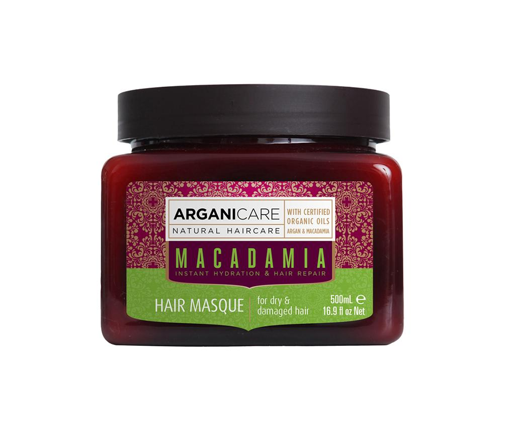 Masca pentru par uscat si deteriorat Macadamia 500 ml - Arganicare, Maro poza