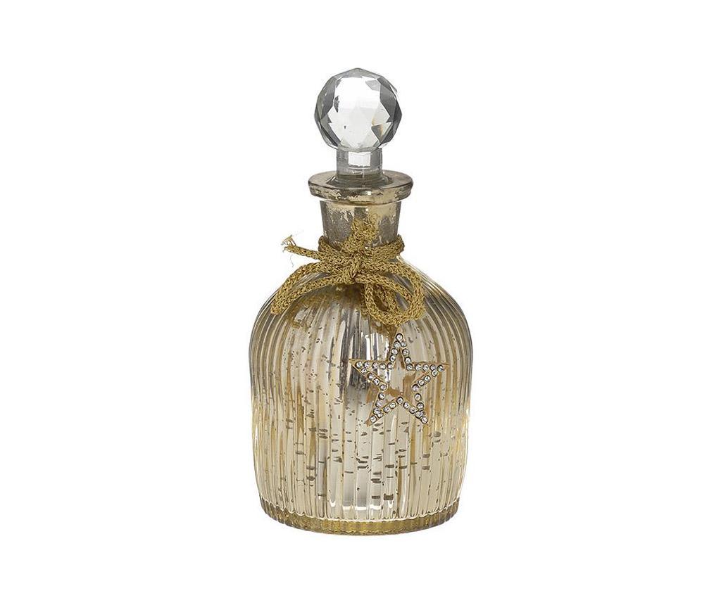 Sticla decorativa cu dop Golden Touch - inart, Galben & Auriu