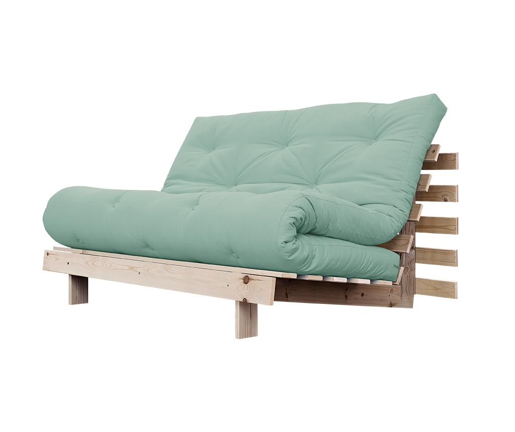 Sofa extensibila Roots Wide Natural and Peppermint - Karup Design, Verde
