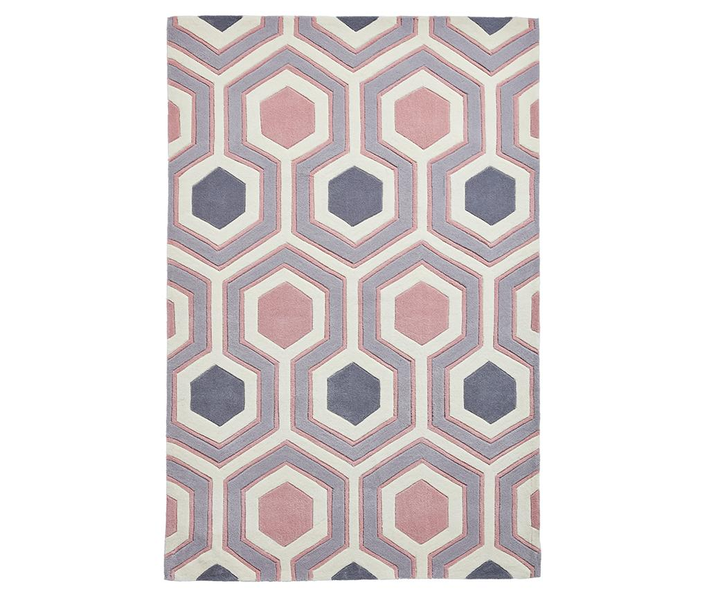 Covor Hong Kong Lina Grey and Pink 120x170 cm - Think Rugs, Gri & Argintiu,Roz imagine