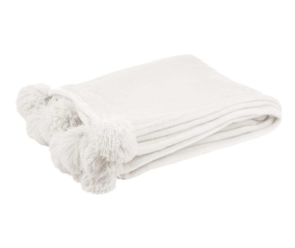 Pled Cierra White 130x170 cm - J-line, Alb poza