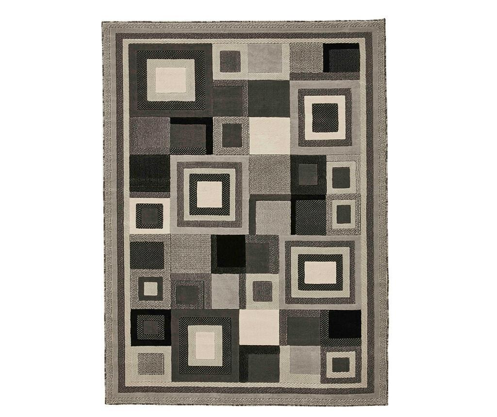 Covor Hudson Grey 80x150 cm - Think Rugs, Gri & Argintiu imagine