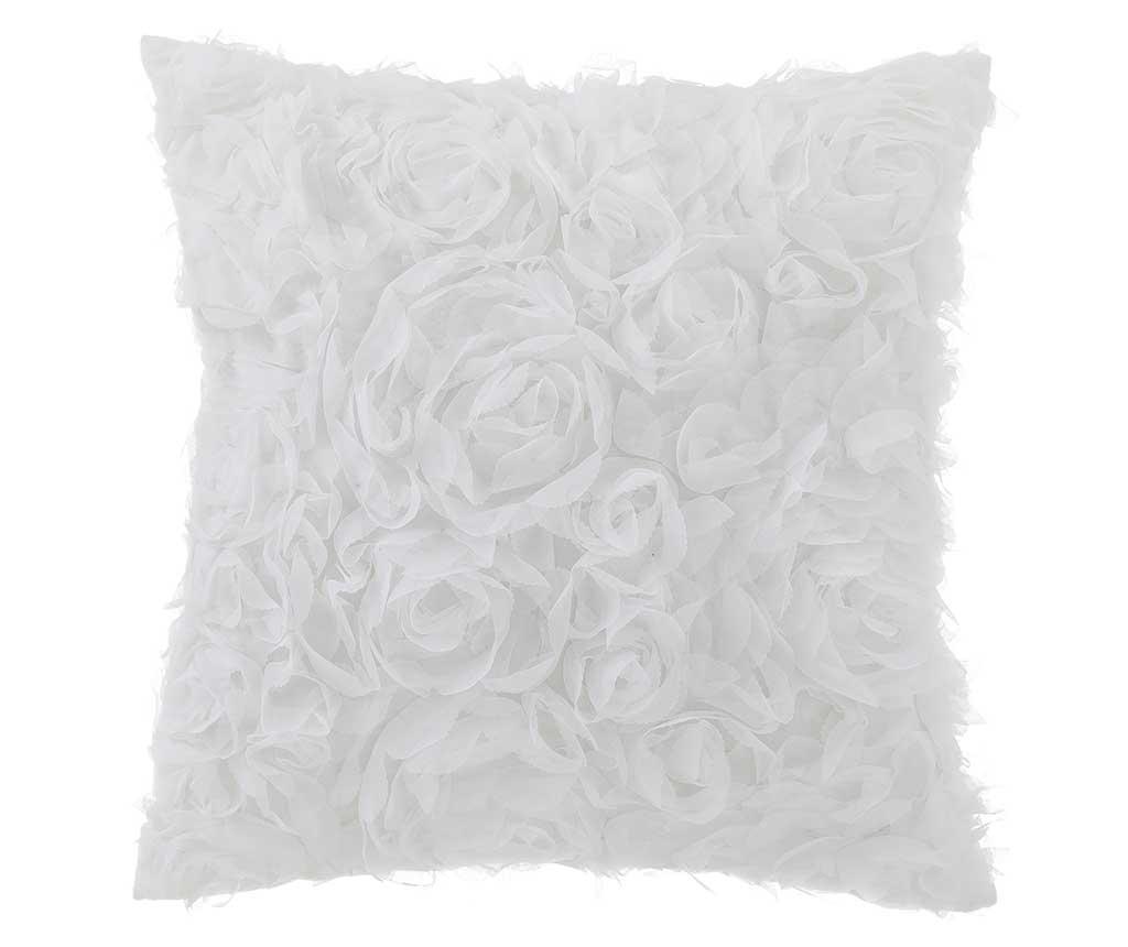 Perna decorativa Roses White 40x40 cm imagine