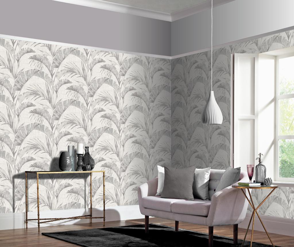 Tapet Banana Palm Chalk Grey 53x1005 cm - Arthouse imagine