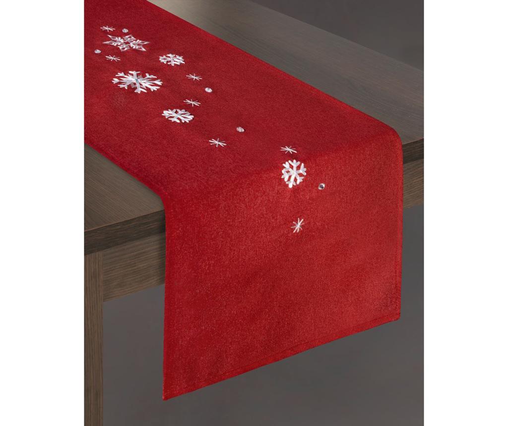 Traversa de masa Rene Red 33x140 cm imagine