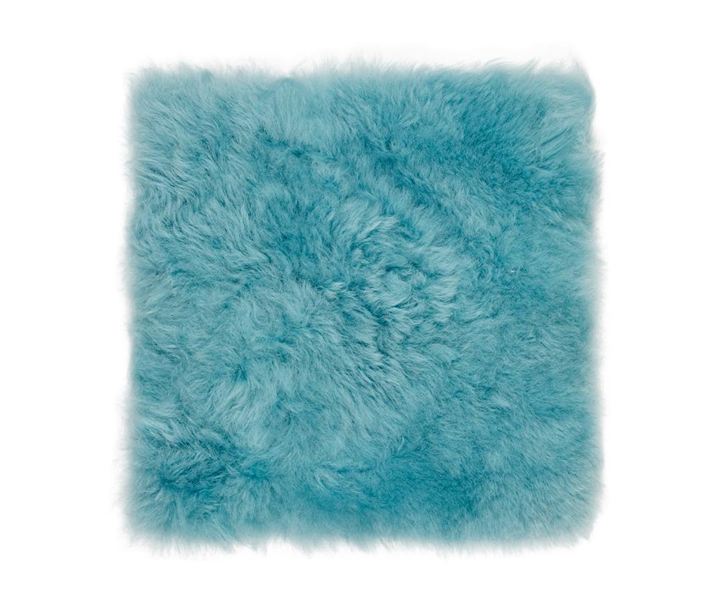 Perna de sezut Icelandic Mint Blue 37x37 cm - Arctic Fur, Albastru imagine
