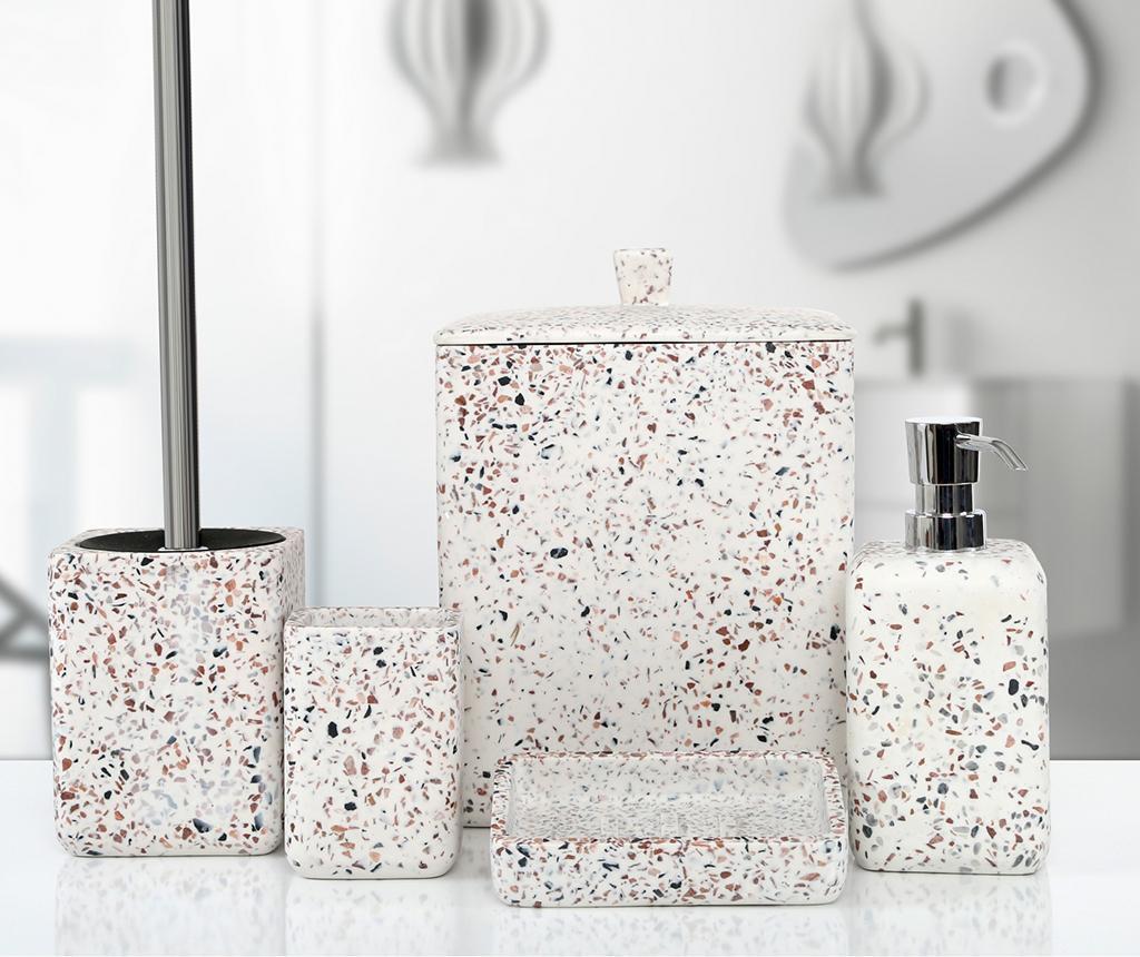 Set pentru baie 5 piese Mozaik - Irya, Alb
