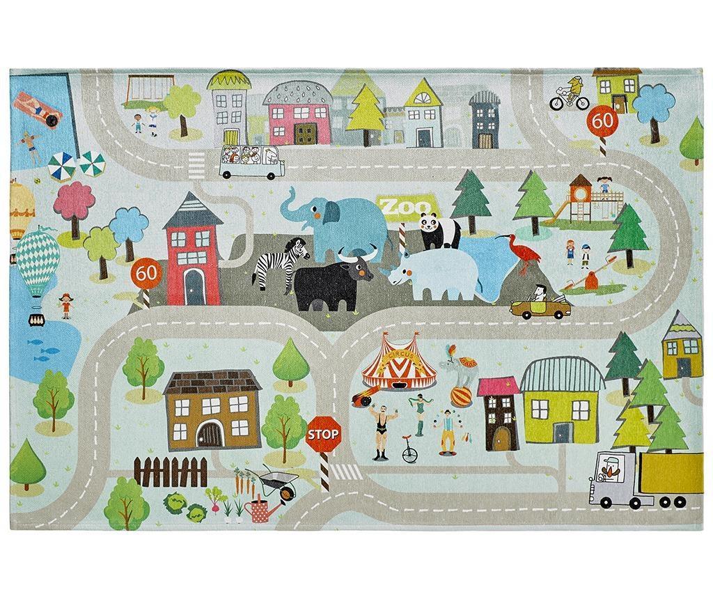 Covor de joaca My Torino Kids Street 160x230 cm - Obsession, Multicolor imagine