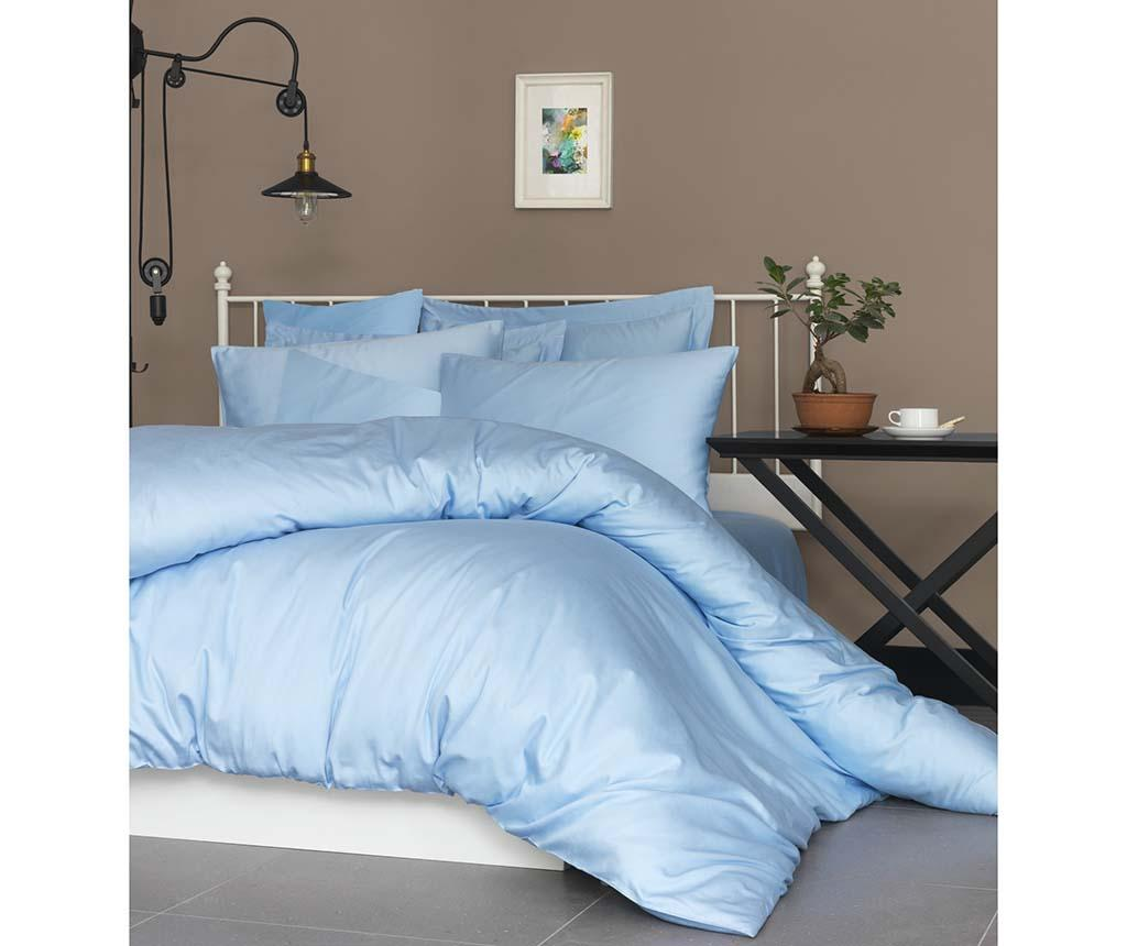 Lenjerie de pat Double Satin Supreme De Blue - Patik, Albastru imagine vivre.ro