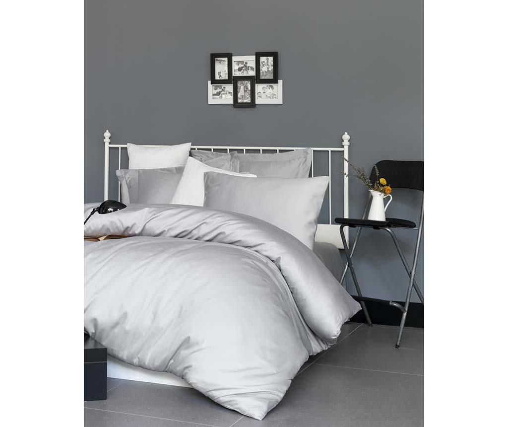 Lenjerie de pat Double Satin Supreme De Light Grey 200x220