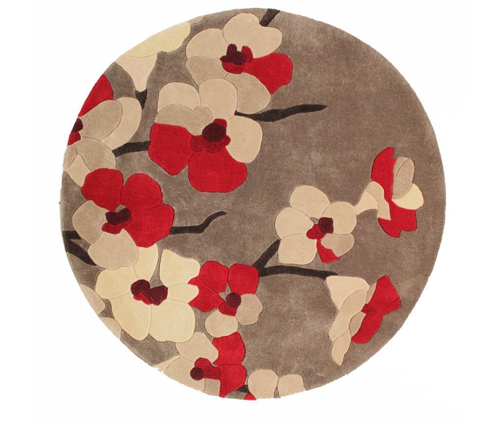 Covor Blossom Red Round 135 cm vivre.ro