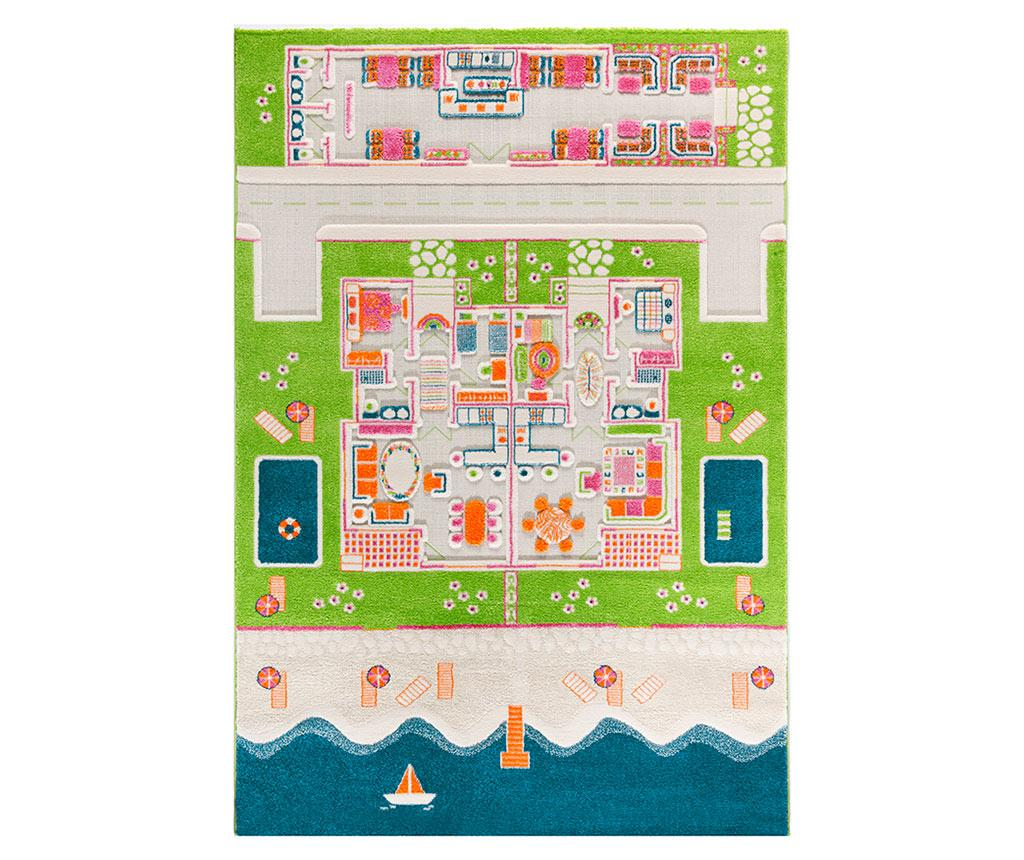 Covor de joaca Beach Houses Long 3D 160x230 cm imagine