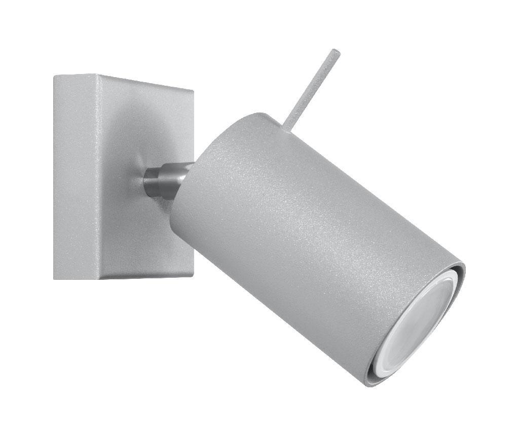 Aplica de perete Etna Grey - Nice Lamps, Gri & Argintiu