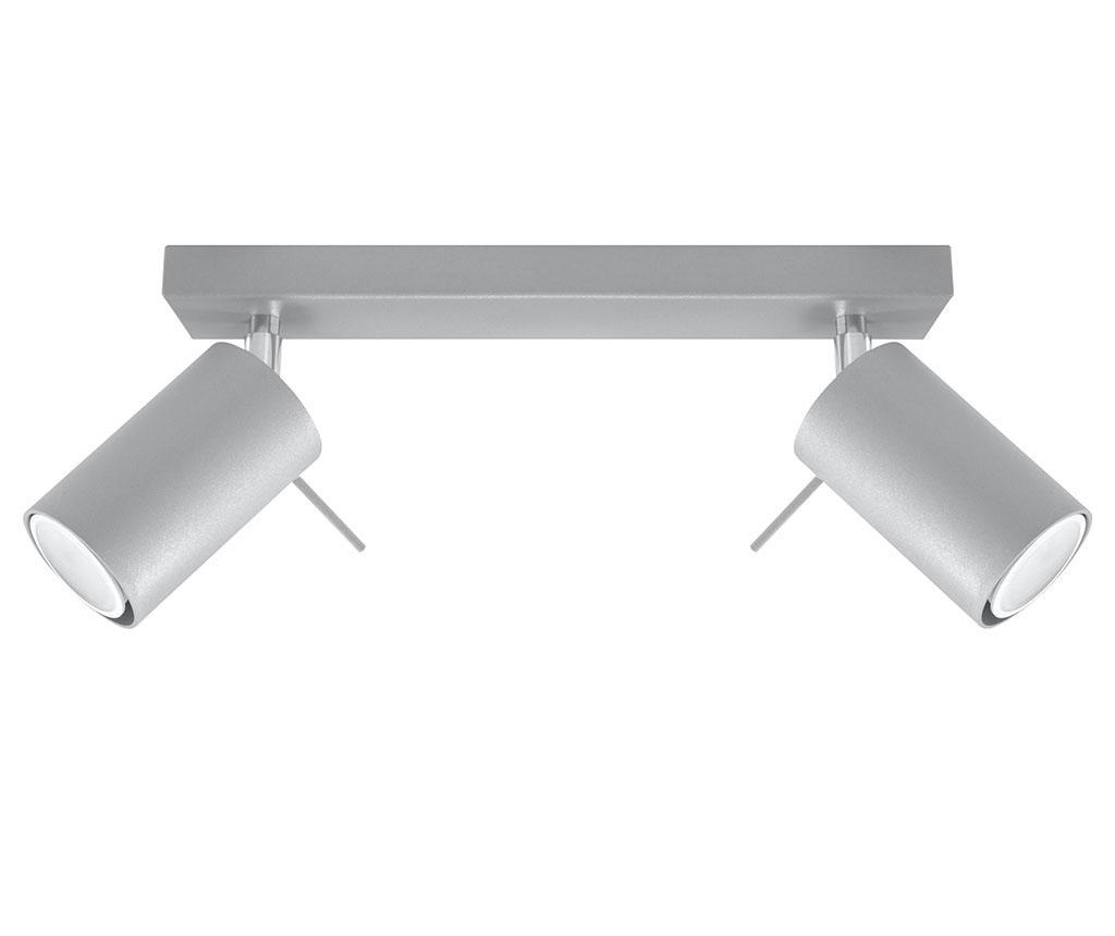 Plafoniera Etna Two Grey - Nice Lamps, Gri & Argintiu imagine