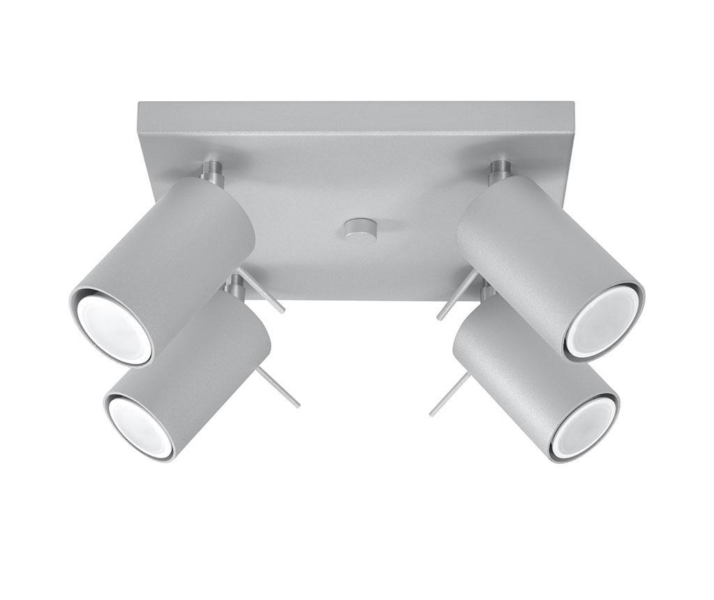Plafoniera Etna Four Square Grey - Nice Lamps, Gri & Argintiu imagine