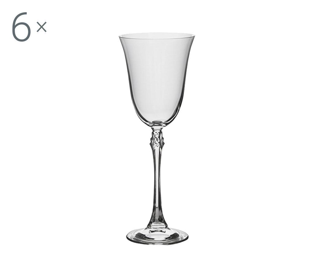 Set 6 pahare pentru vin rosu Bohemia Royal Fuschia 260 ml