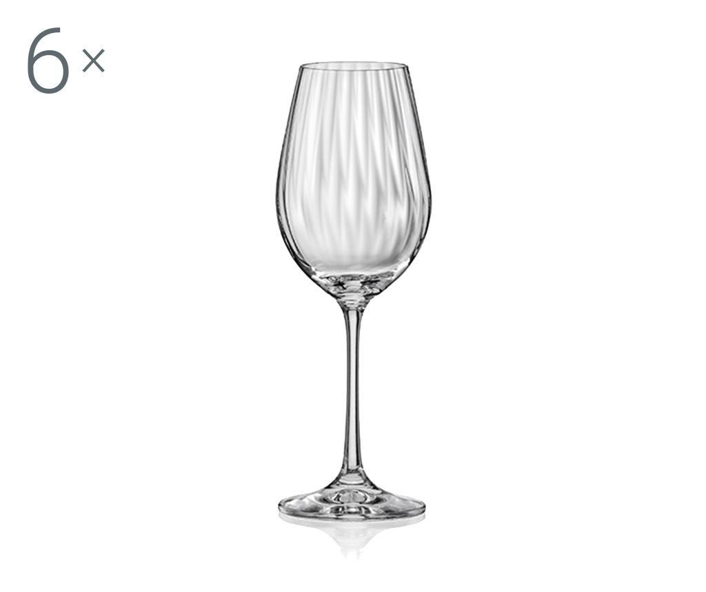 Set 6 pahare pentru vin rosu Bohemia Royal Waterfall 550 ml