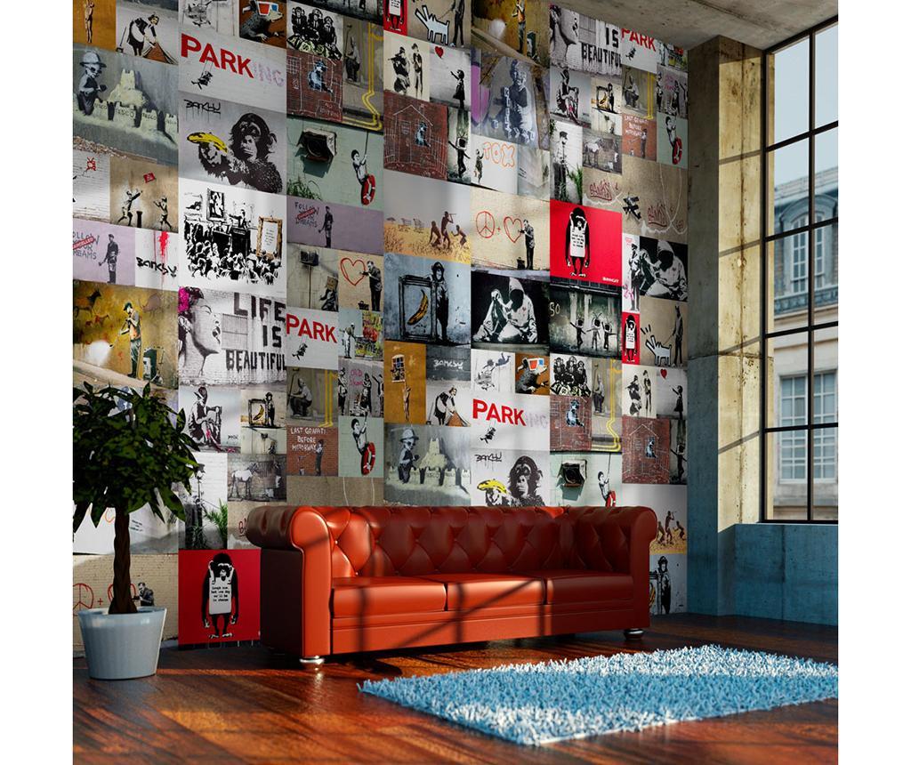 Tapet Banksy 50x1000 cm - Artgeist vivre.ro