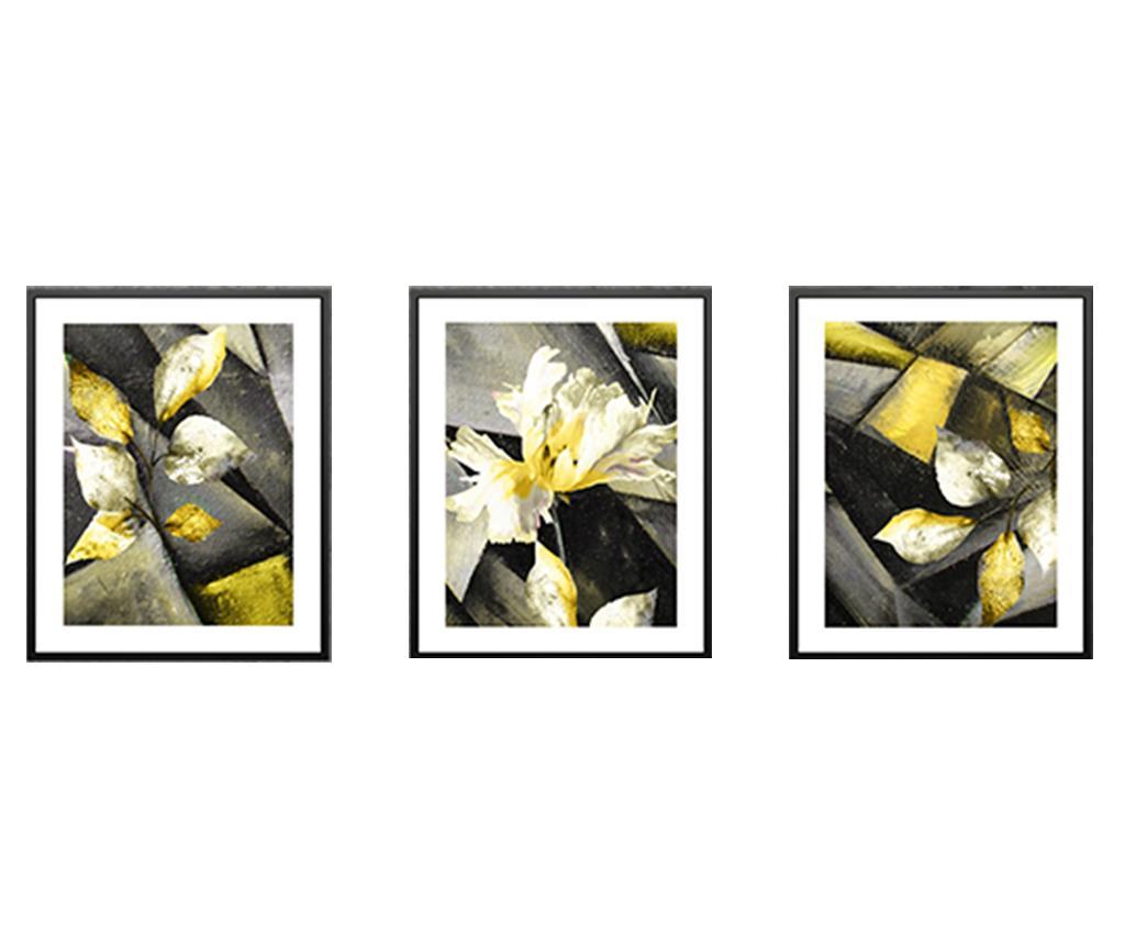 Set 3 tablouri Upal 24x29 cm - Tablo Center, Multicolor imagine