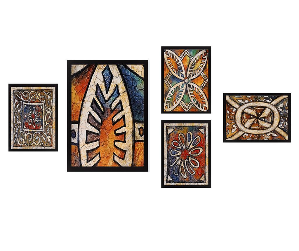 Set 5 tablouri Yazia - Tablo Center, Multicolor imagine