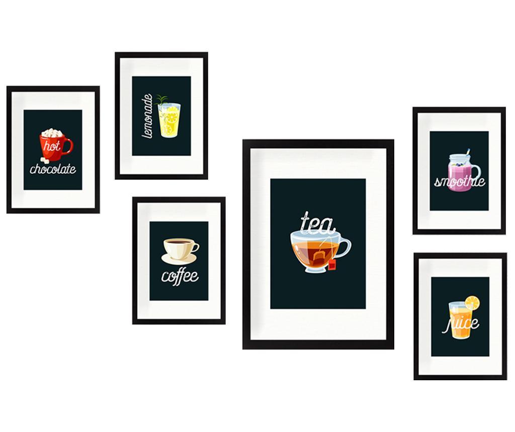 Set 6 tablouri Drinks - Tablo Center, Multicolor imagine
