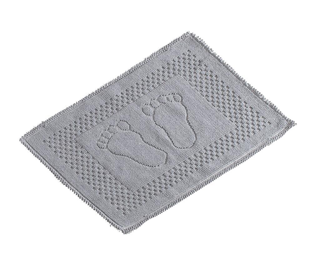 Covoras de baie Feet Grey 50x70 cm