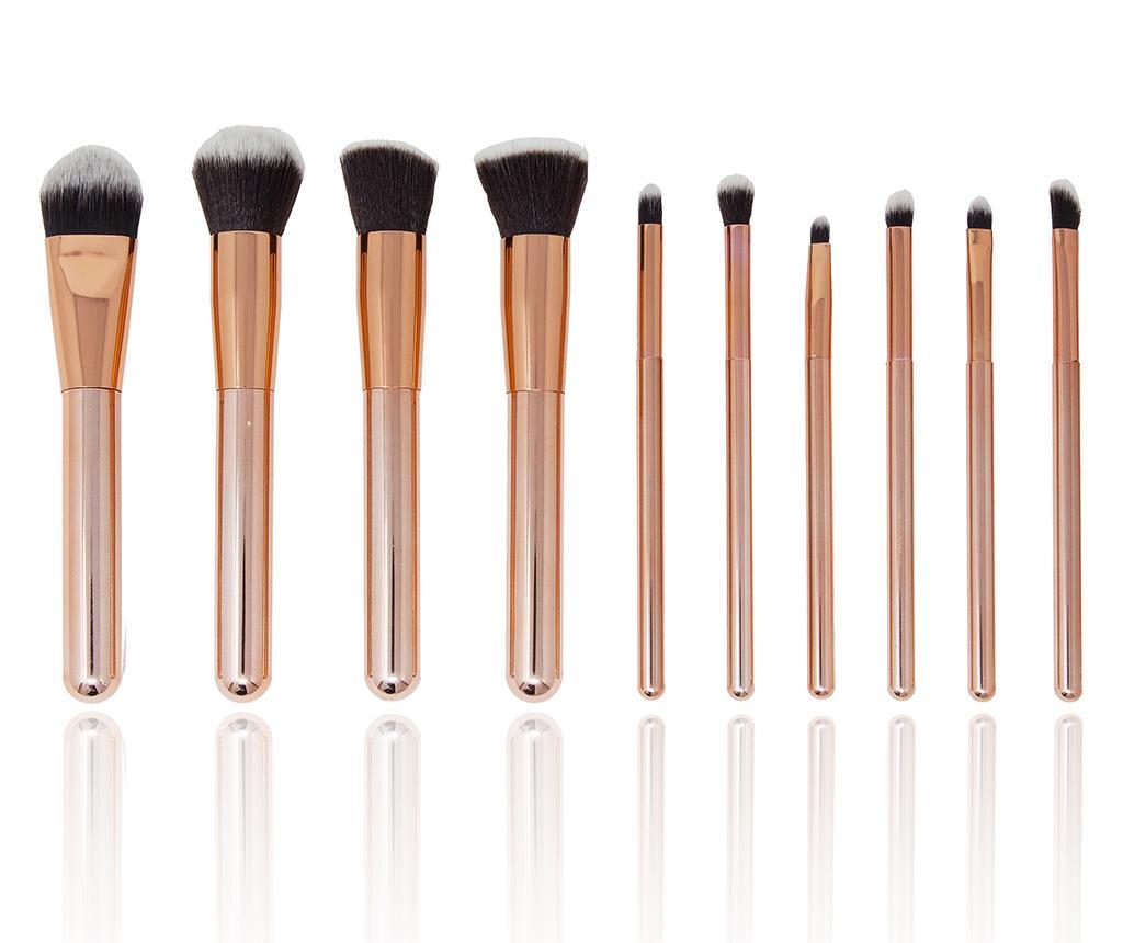 Set 10 Pensule Pentru Machiaj Luxurious Rosegold