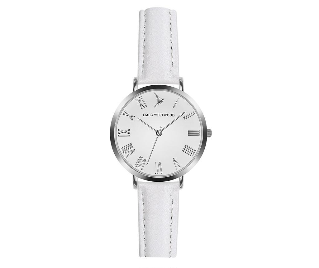 Ceas de mana dama Emily Westwood Century Classic White - Emily Westwood, Alb,Gri & Argintiu poza