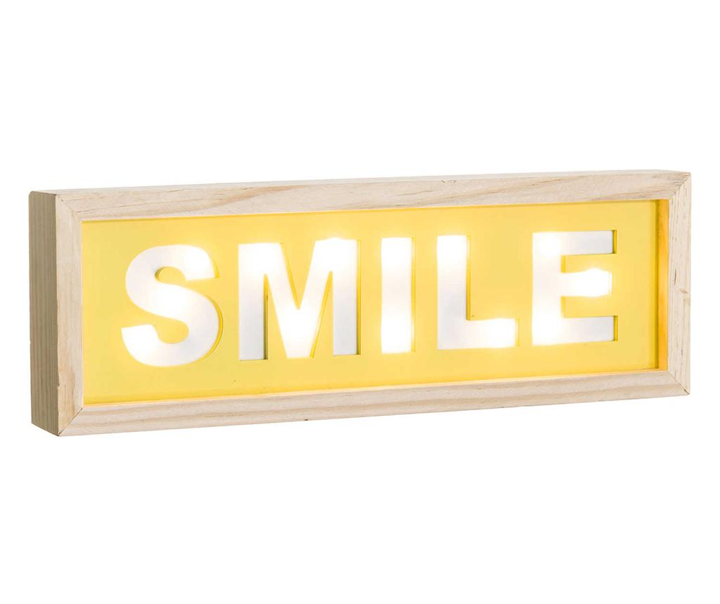 Decoratiune luminoasa de perete Smile imagine