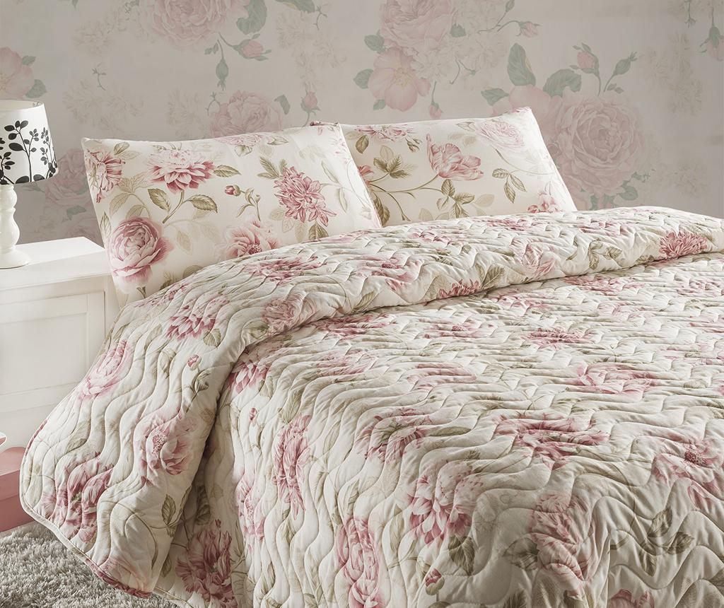Set cuvertura matlasata King Care Pink - Eponj Home, Roz imagine