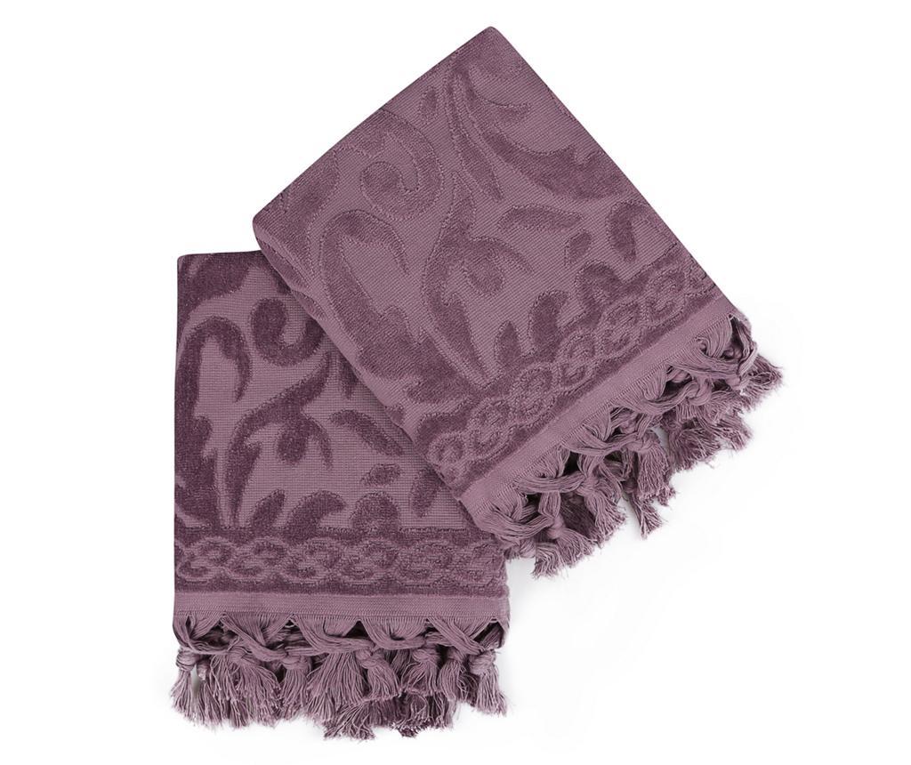 Set 2 prosoape de baie Fringe Purple 50x90 cm - Åžaheser, Mov vivre.ro
