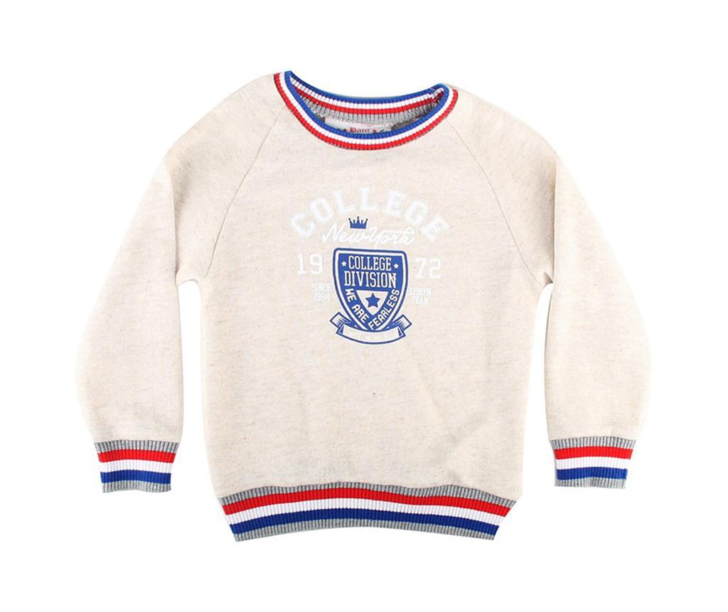Bluza cu maneca lunga copii College Cream 7-8 ani