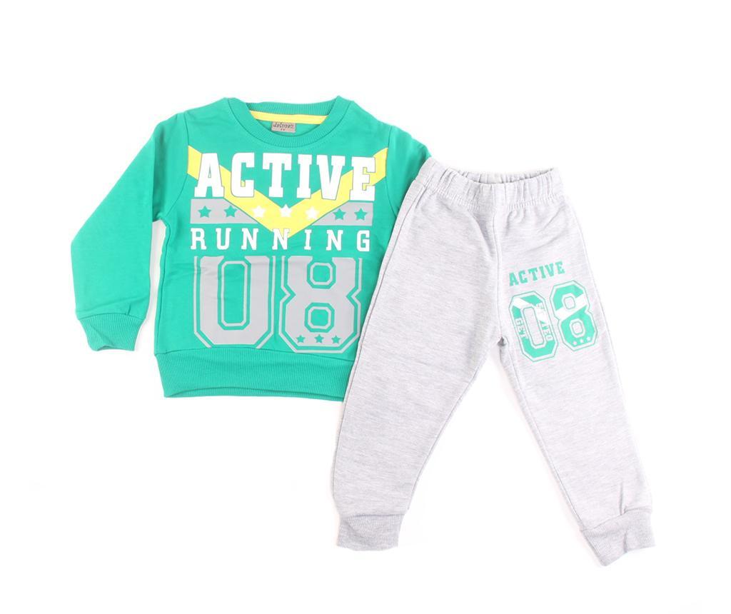 Set bluza cu maneca lunga si pantaloni copii Active Running 12 luni