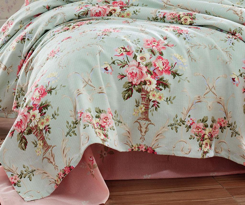 Cuvertura Pique Alanur Mint 200x235 cm - EnLora Home, Multicolor imagine