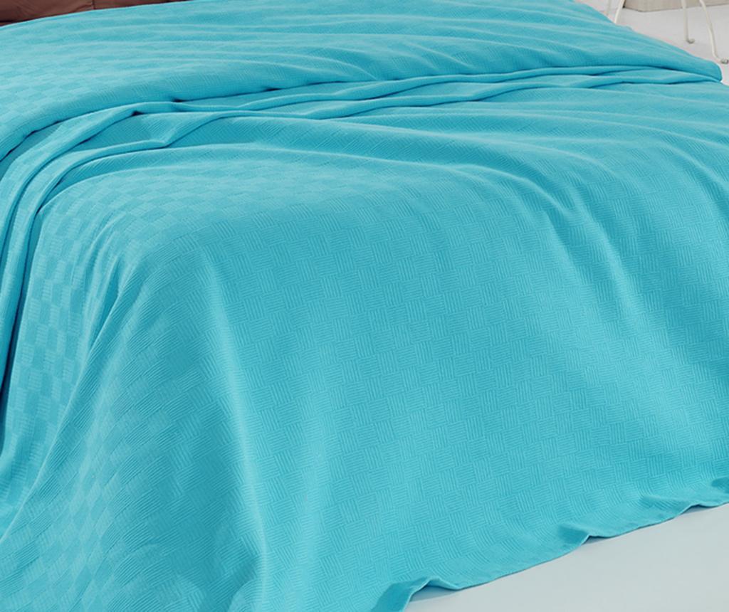 Cuvertura Pique SimpleTurquoise 220x240 cm